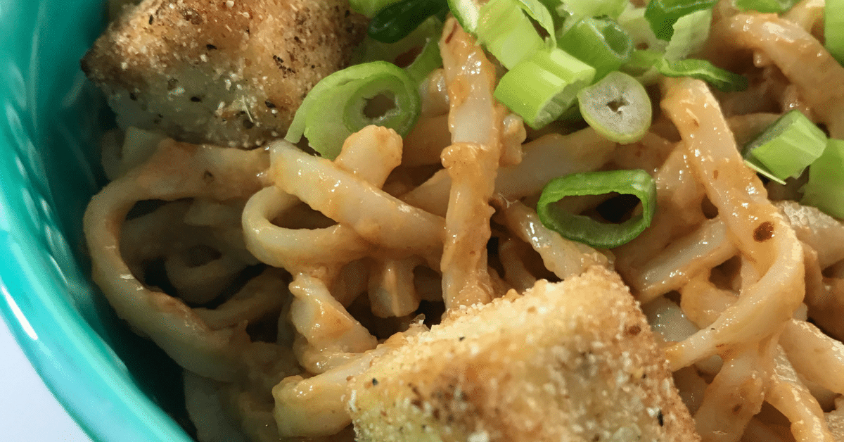 Spicy Sriracha Peanut Noodles with Cornmeal Battered Fried ...